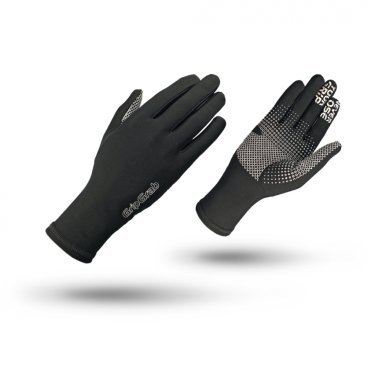 Велоперчатки зимние GripGrab Insulator, силиконовые накладки, работют с сенсорными экранами, черный