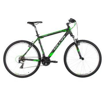 Горный велосипед KELLYS VIPER 10 26 (2017)Горные (MTB)<br>Открывает линейку горных велосипедов модель Viper 10. Это самый не дорогой взрослый велосипед Kellys, но несмотря на это,<br>его оборудование и механизмы тщательно подобраны специалистами, для того чтобы вы без лишних хлопот могли в свободное от работы время покататься по близлежащему парку или городским улицам.<br><br>Трансмиссия shimano, начального уровня, хорошо справляется с умеренными нагрузками прогулочного режима. Велосипед имеет 21 передачу, одну из которых вы сможете выбрать при вращении педалей, легким нажатием монетки переключения на руле. Рама сделана из прочного и проверенного алюминия 6061.<br><br><br>Рама: Kellys Alutec 6061 - RRC Geometry (Race Ready Concept)<br>Размеры рамы: 26 - 395мм (15.5) 445мм (17.5) 27.5 - 495мм (19.5) 545мм (21.5)<br>Вилка: SR SUNTOUR M3030, 75мм, coil spring (26- 15.5, 17.5 27.5- 19.5,21.5)<br>Рулевая колонка: semi-интегрированная<br>Каретка: cartridge (120мм)<br>Шатуны: PROWHEEL (42x34x24) - длина 170мм<br>Шифтеры: Shimano ST-EF41-7 EZ-fire Plus<br>Передний переключатель: Shimano TZ30 (диаметр 31.8мм)<br>Задний переключатель: Shimano TX800 (прямое крепление)<br>Количество передач: 21<br>Кассета: Shimano CS-HG200-7 (12-32)<br>Цепь: KMC Z51 (108 звеньев)<br>Тормоза: APSE Artek V-brake<br>Тормозные ручки: Shimano ST-EF41-7 EZ-fire Plus<br>оплётка тросов: DRIVING Force SCS (SlickCableSystem)<br>Втулка: KLS Drive (32 отверстия)<br>Обода: KLS Draft Disc 559x19 (15.5 - 17.5) 584x19 (19.5 - 21.5) 32 отверстия<br>Спицы: steel<br>Покрышки: KLS Attack 54-559 /26x2.10(15.5 - 17.5) 54-584 /27.5x2.10(19.5 - 21.5)<br>Вынос руля: KALLOY - диаметр 28.6мм диаметр крепления руля 25.4мм 15° длина 75мм (15.5), 90мм (17.5), 105мм (19.5 - 21.5)<br>Руль: steel RiseBar - диаметр 25.4мм ширина 620m (15.5 - 17.5), 640мм (19.5 - 21.5)<br>Грипсы: KLS Advancer<br>Подседельный штырь: KALLOY - диаметр 27.2мм длина 300мм (15.5), 400мм (17.5 - 21.5)<br>Седло: KLS DriveLine<br>Педали: plastic<br><br>Д
