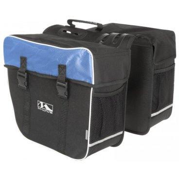 Сумка-штаны M-WAVE на велобагажник, 30 л, черно-синяя, 5-122804Велосумки<br>Сумка M-WAVE штаны на багажник, черно-синяя <br><br>Описание <br>M-Wave Amsterdam Double Pannier Bag - отличный вариант для поездок на выходные, ежедневных поездок или посещения продуктового магазина. Коллекция сумок  M-Wave оснащена 600D Tear Proof Nylon и отражающими материалами для самых требовательных велосипедистов. Доступно в нескольких цветах!<br><br>Харктеристики:<br>-600D Tear Proof Nylon<br>-Светоотражающие полоски и сетка <br>-Размеры: 13,5 x 7 x 12 дюймов <br>-Объем:30 л<br>-Большие основные отсеки с защелками Quick Release, и укрепленные пластиковыми стенками.