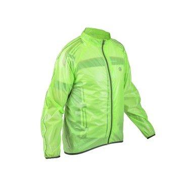 Велокуртка/дождевик AUTHOR RAIN DINTEX, салатовая, на молнии фото