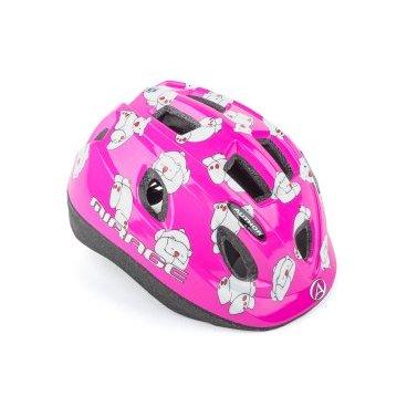 Шлем детский AUTHOR Mirage 161Pnk Bear INMOLD, светодиодный фонарь, розовый, 48-54см, 8-9089980
