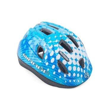 Шлем детский AUTHOR Mirage 167 Blue INMOLD, 12 отверстий, синий, 52-56см, 8-9089966Велошлемы<br>Легкие детские шлемы. Удобные регулировки быстрые и легкие в использовании, большие вентиляционные отверстия с сеткой от насекомых притягивают прохладный свежий воздух, чтобы улучшить комфорт практически в любых условиях. <br>Технология формовки предлагает сопротивление и малый вес.<br>Размер: 52-56см<br>Антибактериальные сменные подушечки.<br>12 вентиляционных отверстий обеспечивают отличную вентиляцию (перед ними с сеткой от насекомых).<br>Вес 220г.