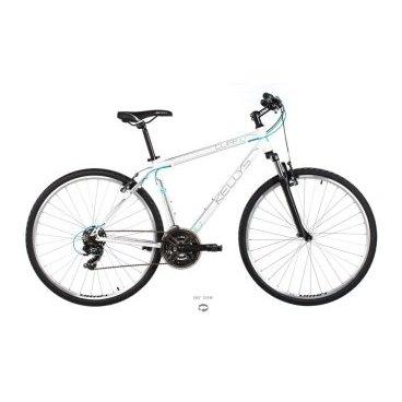 Гибридный велосипед KELLYS CLIFF 10, колёса 28, рама: Al 6061, 21 скорость, белый