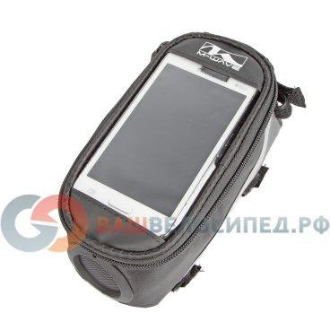 Сумочка/чехол+бокс M-WAVE на раму для смартфона 185х90х95мм, встроенный динамик, черная 5-122377Велосумки<br>Сумочка/чехол+бокс M-WAVE на раму для смартфона  <br>Для смартфонов/телефонов/плееров/навигаторов<br>- встроенный динамик с усилителем для воспроизведения музыки (станартный аудио-разъем 3,5мм)<br>- возможность управления сенсорным экраном<br>- влагозащитный материал<br>- корпус защитой от механических воздействий<br>- с дополнительным боксом<br>- универальное крепление к раме и рулевой колонке 3-мя липучками<br>- свето-отражаюшие элементы <br>Цвет: черно-серая<br>Артикул 5-122377<br><br>Размеры:<br><br>Длина: 180мм,<br> <br>Ширина: 70мм,<br><br>Высота: 100мм