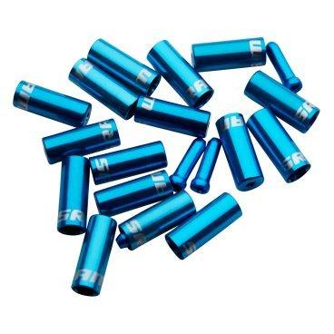 Комплект наконечников для рубашки SRAM Ferrule Kit, синие, 00.7115.010.030Тросики и Рубашки<br>Комплект наконечников для рубашки SRAM Ferrule Kit <br><br>Описание:<br>Комплект алюминиевых наконечников c прорезинеными колпачками 4 мм и 5 мм, для дополнительной герметичности и защиты рубашки.<br>Для тормозных и рубашек переключения.<br>Цвет: синий