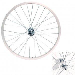 Колесо VELOOLIMP, 20, переднее, обод одинарный, алюминий, втулка стальная, на гайках, серебристыйКолеса для велосипеда<br>Колесо 20 переднее, обод одинарный алюм. б/пист., втулка стальная, на гайках, серебр.