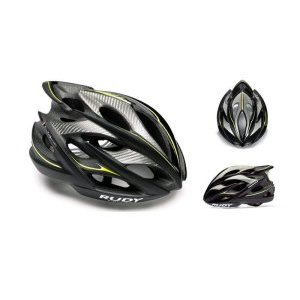 Велошлем Rudy Project WINDMAX BLK/YEL FLU/WHITE MATTE L