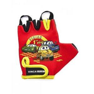 Перчатки велосипедные детские, Cars, гелевые вставки, цвет красный, размер 3XSВелоперчатки<br>Перчатки велосипедные детские, Cars, гелевые вставки<br>На запястье перчатка фиксируется прочной липучкой «Velcro».<br>Высокое качество, технически совершенные материалы, оригинальный стильный дизайн.<br>Индивидуальная упаковка Vinca sport.<br>Характеристики<br>Материал внешней стороны лайкра<br>Материал тыльной стороныискусственная замша<br>Размер: 3 XS<br>Цвет: красный