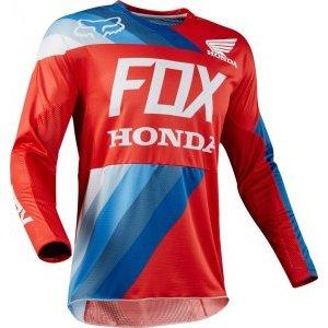 Велоджерси Fox 360 Honda Jersey, красный 2018Велоджерси<br>Традиционное вело и мотокроссовое джерси, выполненное из быстросохнущего полиэстера, который хорошо отводит влагу от тела. Воротник и манжеты рукавов идеально облегают шею и запястья, а благодаря удлинённой задней части джерси всегда останется аккуратно заправленным в штаны.<br><br><br><br>ОСОБЕННОСТИ<br><br><br><br>Материал: 100% - полиэстер<br><br>Вставка из сетчатого материала в задней части для дополнительной вентиляции<br><br>Облегающий воротник и манжеты рукавов<br><br>Удлинённая задняя часть<br><br>Командная расцветка Fox Racing/Honda