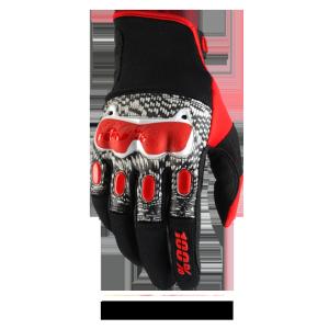 Велоперчатки 100% Derestricted Glove, черно-бело-красный 2017