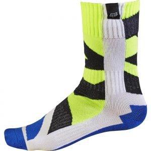 Носки подростковые Fox MX Creo Youth Sock, бело-желтый 2017 фото