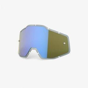 Линза 100% Racecraft/Accuri/Strata Anti-Fog Injected Blue Mirror / Smoke (51004-022-02) фото