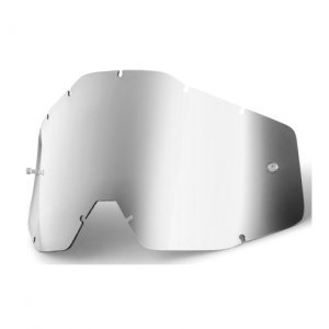 Линза 100% Racecraft/Accuri/Strata Anti-Fog Silver Mirror, 51002-008-02 фото