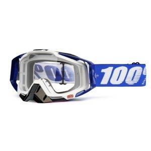Велоочки 100% Racecraft Cobalt Blue / Clear Lens, 50100-002-02Велоочки<br>Верхняя модель линейки 100%, созданная для самых требовательных гонщиков – максимально лёгкая и удобная, обеспечивающая отличный обзор. Благодаря точнейшей инженерии, минималистичному дизайну и тщательно продуманным деталям эта маска отлично выглядит и выполняет свои функции на все 100 процентов. В комплекте – защита переносицы, комплект отрывных лепестков и текстильный чехол.<br><br>ОСОБЕННОСТИ <br>•Тройной слой пеноматериала<br>•Специальное покрытие Anti-fog для отличного обзора в любую погоду<br>•Запатентованная система воздушных каналов в пеноматериале, помогающая отводить влагу<br>•Съёмная защита  носа<br>•   Цвет оправы/резинки:Белый/синий<br>•   Цвет линзы: прозрачный