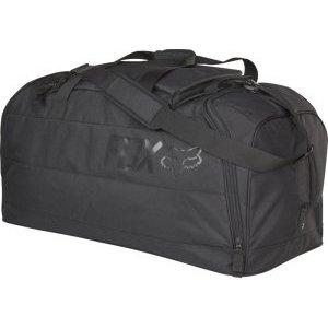 Велосумка Fox Podium Gear Bag, черный, 18808-001-NSВелосумки<br>Объёмная сумка для переноски велоэкипировки, которая отлично подойдёт для автопутешествий и просто для регулярных выездов на тренировки. По размеру она почти аналогична модели Shuttle – в ней достаточно места для всей экипировки (включая шлем, боты, наколенники, панцирь и защиту шеи) и для личных вещей, которые можно распределить по маленьким карманам и отделениям.<br><br><br><br>ОСОБЕННОСТИ<br><br><br><br>Материал: износостойкий полиэстер 600 D<br><br>Большое основное отделение<br><br>Вентилируемые отделения для велобот<br><br>Отдельный карман для маски в верхней части<br><br>Широкий ремень для ношения на плече<br><br>Рассчитана на вес до 52кг<br><br>Размер: 89х38х41см