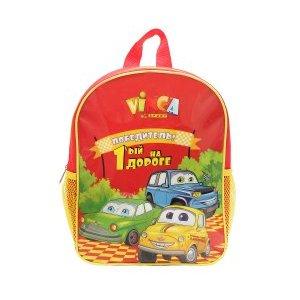 Рюкзачок детский машинки, 270*210*65ммВелорюкзаки<br>Рюкзачок детский машинки<br>Рюкзачки отличаются ярким неповторимым дизайном, качественными безопасными материалами, практичностью.<br>На прогулку, в парк, детский сад, - детский рюкзак для мальчика станет незаменимым аксессуаром.<br>Он легкий, яркий, стильный, практичный, не требует особого ухода и обладает достаточным объемом, чтобы вместить все ценные вещи ребенка.<br>Материал: 420 D полиэ?стер<br>Цвет: красный<br>Рюкзак крепится на руль двумя ремешками на липучках, плечевые лямки легко отстёгиваются и прячутся в карман.<br>Характеристики<br>Наличие внешних кармановДве боковые сетки<br>Один внутренний карман<br>Размеры: 270*210*65мм