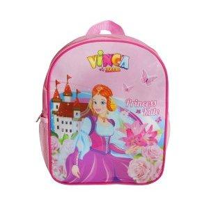Рюкзачок детский принцесса, 270*210*65ммВелорюкзаки<br>Рюкзачок детский принцесса, 270*210*65мм<br>Рюкзачки отличаются ярким неповторимым дизайном, качественными безопасными материалами, практичностью.<br>На прогулку, в парк, детский сад, - детский рюкзак для мальчика станет незаменимым аксессуаром.<br>Он легкий, яркий, стильный, практичный, не требует особого ухода и обладает достаточным объемом, чтобы вместить все ценные вещи ребенка.<br>Материал: 420 D полиэ?стер<br>Цвет: розовый<br>Рюкзак крепится на руль двумя ремешками на липучках, плечевые лямки легко отстёгиваются и прячутся в карман.<br>Характеристики<br>Наличие внешних кармановДве боковые сетки<br>Один внутренний карман<br>Размеры: 270*210*65мм