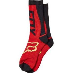 Носки Fox Motovate Crew Sock, красный 2016Велоноски<br>Оригинальные высокие носки от Fox. Носки выполнены из плотного мягкого текстиля и декорированы вышивкой в виде логотипа бренда.<br><br><br><br>ОСОБЕННОСТИ<br><br><br><br>Материал: 82% - хлопок, 9% - эластан, 2% - нейлон, 7% - латекс<br><br>Декор в виде логотипа бренда