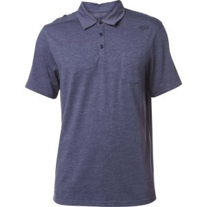 Велофутболка Fox Legacy Polo Shirt Heather, синий 2018