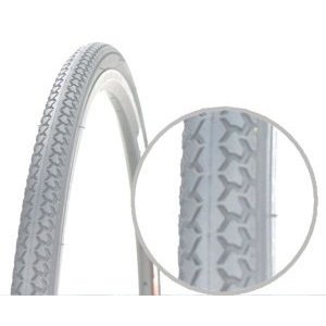 Покрышка длясоветских вело/инвалидных колясок, 24x1 3/8 (37-540), PQ-717 низкий, СЕРАЯ, 00-011055