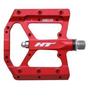 Педали велосипедные HT ME05, матовый красный, ME05302101 фото