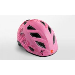 Велошлем детский Met Elfo Pink Butterflies 2018Велошлемы<br>Детские шлемы Met – это не просто уменьшенные копии взрослых моделей. Все они разработаны с учётом особенностей детской анатомии и некоторых специфических требований. Например, затылочная часть сделана почти вертикальной, чтобы ребёнку было удобно сидеть на детском сидении. Elfo – модель для самых маленьких, и её основное отличие от большинства аналогов состоит в том, что шлем ни при каких обстоятельствах не соприкасается с родничковыми костями черепа – самой уязвимой областью детской головы.<br><br><br><br>ОСОБЕННОСТИ<br><br><br><br>Шлем для самых маленьких, созданный с учётом особенностей детской анатомии<br><br>Вертикальная затылочная часть обеспечивает комфорт при поездках на детском сидении<br><br>Светоотражающая наклейка на задней части