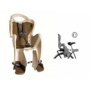 BELLELLI Сидение заднее Mr Fox Clamp, кремовое с бежевой вставкой, до 22кгДетское велокресло<br>BELLELLI Сидение заднее Mr Fox Clamp, <br>Конструкция вело кресла предусматривает элементы защиты ребенка.<br>Благодаря гибкому стальному держателю снижается нагрузка на позвоночник малыша, ножки защищены специальными бортами, защелка ремней безопасности снабжена «секретом» - Вы сможете расстегнуть ее одной рукой, а, в то же время, ребенок случайно не сможет отстегнуться.<br>Комфорт создаст мягкая вкладка. Она легко снимается для стирки.<br>В комплекте к этому креслу Вы получаете крепление Clamp. Это крепление монтируется на уже установленный задний багажник (грузоподъемность багажника не менее 25 кг, ширина 12-17,5 см) велосипеда.<br>При этом, диаметр колес должен быть не меньше 26 дюймов. <br>Материал: пластик.<br>Устанавливается: на багажник велосипеда.<br>Вес ребёнка: до 22 кг.<br>Приблизительный возраст ребёнка: ~от 1 года до 7 лет.<br>Допустимая ширина багажника: от 12-17,5 см (багажник НЕ консольного типа).<br>Грузоподъёмность багажника: до 25 кг.<br>Колёса взрослого велосипеда: от 26 до 29.<br>Крепление Clamp: это быстросъёмное крепление на багажник.<br>Застёжки ремней: baby control (с секретом).<br>Регулировка ремней: есть.<br>Защитная платформа для ног с регулировкой: есть.<br>В комплекте: крепление.<br>Цвет кресла: кремовое с бежевой вставкой<br>Европейский сертификат качества TUV.<br>Стандарт безопасности: EN 14344.