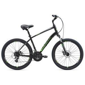Городской велосипед Giant Sedona DX 26 2018Городские<br>Giant Sedona DX – это стильная мужская модель городского велосипеда, подходящая для поездок по ровным дорогам, а также в условиях легкого бездорожья. Прочная рама с особой геометрией изготовлена из легкого, но прочного алюминиевого сплава, и является базой для остальных компонентов велосипеда вместе с амортизационной вилкой SR Suntour XCT 26. Дисковые механические тормоза отвечают за быстрое и безопасное прекращение движение, а 26-дюймовые колеса обеспечивают хороший накат.<br><br><br>Технические характеристики Giant Sedona DX (2018)<br>полмужской<br>тип тормозовдисковый механический<br>диаметр колеса26 дюймов<br>уровень оборудованиялюбительский<br>рульHigh , 25.4mm<br>материал рамыалюминий<br>тип амортизационной вилкипружинная<br>длина хода вилкидо 100 мм<br>количество скоростей24<br>блокировка амортизаторанет<br>планетарная втулканет<br>выносAlloy Adjustable<br>передний тормозTKB-172<br>задний тормозTKB-172<br>тормозные ручкиShimano EF51<br>цепьZ72<br>системаProWheel Swift 201P, 283848<br>кареткаShimano UN26<br>педалиNylonAnti-Slip Platform, 916<br>ободьяGiant GX28<br>передняя втулкаAlloy<br>задняя втулкаAlloy<br>передняя покрышкаKenda K892 26x2.3, Multi-Surface<br>задняя покрышкаKenda K892 26x2.3, Multi-Surface<br>седлоGiant Comfort Groove Plus, Mens<br>подседельный штырьAlloy Suspension, 30.9mm<br>кассетаShimano CS-HG31, 11-32<br>передний переключательShimano Altus<br>задний переключательShimano Altus<br>манеткиShimano EF51<br>рамаALUXX-Grade Aluminum<br>вилкаSR Suntour XCT 26, 80mm Travel