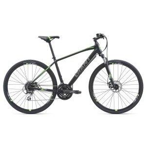 """Городской велосипед Giant Roam 3 Disc 28 2018Городские<br>Полностью переработанная линейка велосипедов GIANT Roam сочетает в себе устойчивость и надежность горного велосипеда со скоростью шоссейника. Эти велосипеды с легкостью справятся как с городскими джунглями, так и с грунтовыми тропами.<br>Благодаря крепкой и легкой раме из высокотехнологичного алюминиевого сплава ALUXX, амортизационной вилке, накатистым 700с колесам и мощным тормозам, велосипеды серии GIANT Roam являются лучшим выбором в качестве универсальной машины.<br><br>Ключевые особенности велосипеда GIANT Roam 3 Disc:<br>- Рама из технологичного алюминиевого сплава ALUXX: баттированные трубы, дропауты с интегрированным креплением дискового тормоза, защищенная нижняя проводка тросов.<br>- Классические 700с (28"""") колеса с универсальной резиной – великолепный накат и устойчивость.<br>- Амортизационная вилка SR SUNTOUR NEX HLO с гидравлическим локаутом - высокий уровень комфорта и максимальная эффективность на ровных участках.<br>- 24-скоростная трансмиссия на компонентах SHIMANO Acera – повышенная надежность и четкое переключение передач в широком диапазоне.<br>- Дисковые тормоза TEKTRO - мощное торможение в любых условиях.<br>Описание<br>Год:2018<br><br>Количество скоростей:24<br>Рама:ALUXX-Grade Aluminum<br>Передняя вилка:SR SUNTOUR NEX HLO, 63mm Travel, Lockout, Preload<br>Рулевая колонка:1 1/8 Semi-integrated<br>Задний переключатель:SHIMANO Acera RD-M360 8 spd<br>Передний переключатель:SHIMANO FD-M191<br>Манетки:SHIMANO ST-EF500 EZ FIRE plus 3x8 spd<br>Тормоза:TEKTRO mechanical disc 160/160mm rotors<br>Система шатунов:SR SUNTOUR XCT-T318, 28/38/48T<br>Каретка:Cartridge BB<br>Руль:GIANT Sport Low, 31.8mm<br>Вынос руля:GIANT Sport Alloy, 7 degree<br>Педали:GIANT Sports<br>Подседельный штырь:GIANT Sport, 27.2x375mm<br>Седло:GIANT Contact Comfort<br>Передняя втулка:GIANT GX28 with QR<br>Задняя втулка:GIANT GX28 with QR<br>Цепь:KMC 8 spd<br>Задние звезды:SHIMANO HG31, 11-34T, 8 spd<br>Обода:GIANT GX28, Doub"""