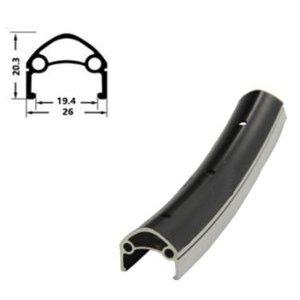 Обод велосипедный HORST H35231 26, 559х26/19,4х20,3 мм, алюминий, 32H, двойной, для спортниппеля, 00-180940Обода<br>Обод 26, 559х26/19,4х20,3мм, алюминий, 32 отверстия, двойной, для спортниппеля, с индикатором износа, черный