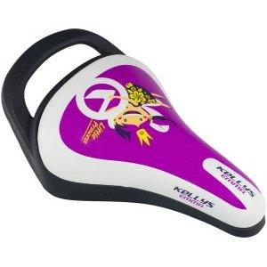 Седло KLS EMMA детское, 245x145мм, с ручкой, фиолетовоеСедла для велосипедов<br>Седло KLS EMMA детское, 245x145мм, с ручкой, фиолетовое