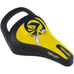 Седло KLS WASPER детское, 245x145мм, с ручкой, жёлтоеСедла для велосипедов<br>Седло KLS WASPER детское, 245x145мм, с ручкой, жёлтое