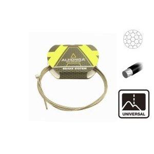 Трос переключателя ALHONGA, 1,2х2300мм гальванизированный с тефлоновым покрытием, HJ-DWC1Тросики и Рубашки<br>ALHONGA Трос переключателя 1,2х2300мм гальванизированный с тефлоновым покрытием, головка 4x4мм в инд.уп.
