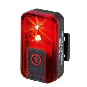 Фонарь VDO задний, 1д, 1 функция, USB, дальность 400 метров, 4-40020
