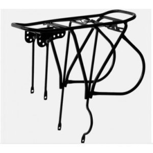 Багажник HORST H001, 26-28, сталь, сварной, на дисковый тормоз, черный, до 20 кг, 00-170335Багажники для велосипеда<br>26-28, стальной, не регулируемый, для велосипедов с дисковым тормозом, до 20кг, сварной, с прижимной пружиной, крепеж, черный
