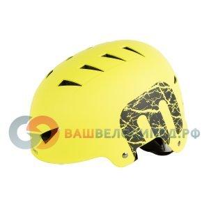 Шлем MIGHTY X-STYLE, ВМХ/FREESTYLE  ABS-суперпрочный, 60-63 см, неоново-желтый, 5-731229Велошлемы<br>Шлем MIGHTY X-STYLE  универсальный для /ВМХ/FREESTYLE  неоново-желтый <br><br>Описание <br>Высокопрочный ABS-пластик<br>14 отверстий<br>Регулируемая система застежки с удобным креплением и надежной фиксацией шлема на голов<br>Сменные анибактериальные прокладки<br>Для всех видов street-деятельности (велосипед МТВ/BMX/FREESTYLE, ролики, скейтборд, сноуборд, фрирайд, туризм)регулируемый<br><br>Характеристики<br>цвет неоново-желтый  <br>индивидуальная упаковка<br>Размер: (60-63 см),  <br>вес 483г