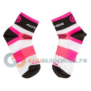 Велоноски AUTHOR XC Lady, женские, розово-бело-черные