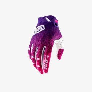 Велоперчатки 100% Ridefit Glove, розово-фиолетовый 2018
