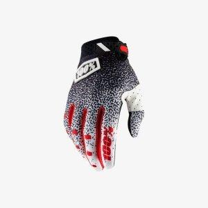 Велоперчатки 100% Ridefit Glove, черно-белый 2018