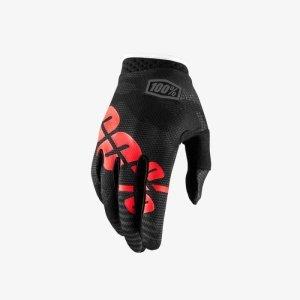 Велоперчатки подростковые 100% ITrack Youth Glove, черный 2018