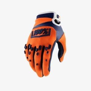 Велоперчатки подростковые 100% Airmatic Youth Glove, оранжево-синий 2018