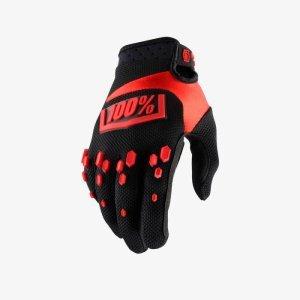 Велоперчатки подростковые 100% Airmatic Youth Glove, черно-красный 2018