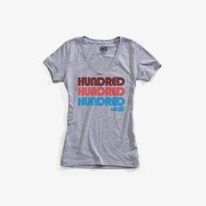 Футболка женская 100% Hundred Women Tee-Shirt Heather, серый 2018