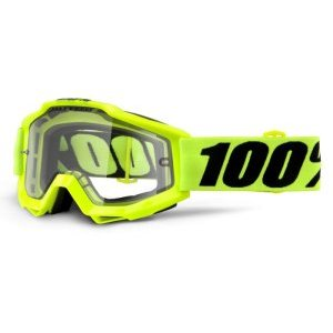 Веломаски 100% Accuri Enduro Fluo Yellow / Clear Dual Lens, 50202-004-02