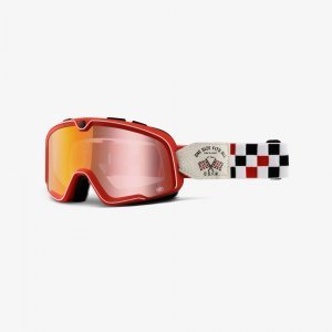 Веломаски 100% Barstow OSFA 2 / Red Mirror Lens, 50002-243-02