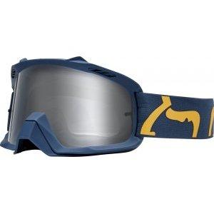 Веломаски Fox Air Space Race Navy/Yellow, 21815-046-NSВеломаски<br>Проверенная временем маска от Fox – на 30% больший, чем раньше, объём воздуха внутри оправы, обеспечивающий лучшую вентиляцию, отличный боковой обзор и максимальный комфорт. 19-миллиметровая подкладка из трёх слоёв пеноматериала эффективно отводит влагу от лица.<br><br><br><br>ОСОБЕННОСТИ<br><br><br><br>Больший, чем раньше, объём воздуха внутри оправы обеспечивает лучшую вентиляцию, отличный боковой обзор и максимальный комфорт