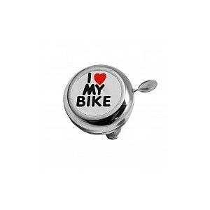Звонок велосипедный I LOVE MY BIKE хромированный, сталь, BELL-08EЗвонки и Клаксоны<br>Звонок I LOVE MY BIKE хромированный, сталь