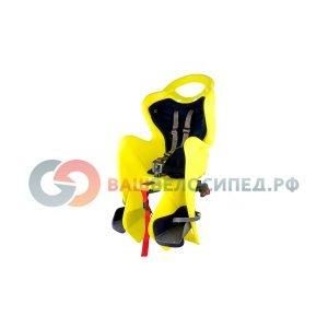 Детское велокресло BELLELLI Mr Fox Clamp Hi-Viz на багажник, жёлтое, до 7лет/22кг, 01FXM00027