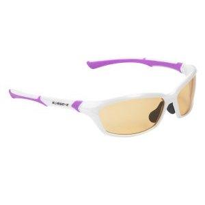 Очки велосипедные SWISSEYE Drift спортивные: оправа жемчужно-белый/пурпурный, 12073Велоочки<br>SWISSEYE Очки Drift спортивные: оправа жемчужно-белый/пурпурный, линзы фотохромные оранжевый/дымчатый