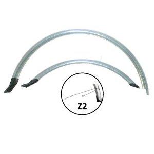 Крылья велосипедные комплект, Vinca HN 12-2 (26) silver, 26, ширина 60мм, удлиненные, серебристый.Крылья для велосипедов<br>Крылья велосипедные комплект, Vinca HN 12-2 (26) silver, 26, ширина 60мм, удлиненные, серебристый.<br>Комплект крыльев удлиненные с резининовой защитой на концах, 26, ширина  60мм,  PVC, cтойка Z2, цвет серебристый.